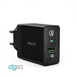 شارژر دیواری انکر مدل 1 +PowerPort (مجهز به تکنولوژی Quick Charge 3.0)شارژر موبایل