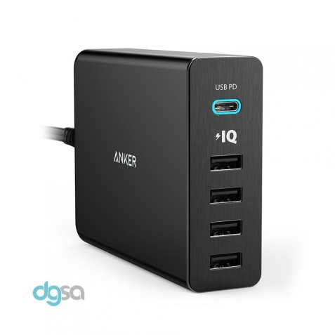 Anker PowerPort+ 5 Desktop Charger with USB-C Port & Power Delivery