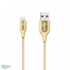 کابل تبدیل USB به لایتنینگ انکر مدل A8121 PowerLine Plus طول 0.9 مترابزار ارتباط