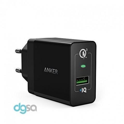 شارژر موبایل شارژر دیواری انکر مدل 1 +PowerPort (مجهز به تکنولوژی Quick Charge 3.0)شارژر موبایل