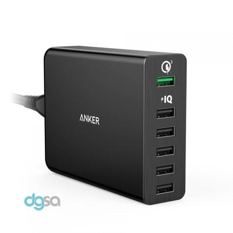 شارژر موبایل شارژر دیواری انکر مدل PowerPort+ 6 (مجهز به تکنولوژی Quick Charge 3.0)شارژر موبایل