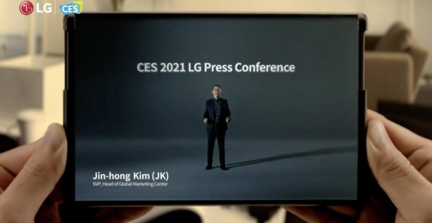 تیزر تبلیغاتی گوشی رول شونده ال جی Rollable برای نمایشگاه CES 2021 منتشر شد